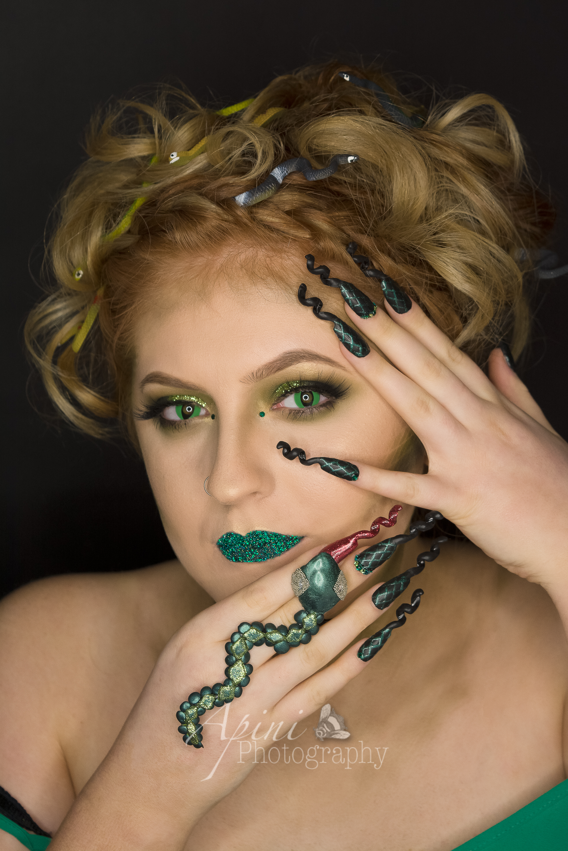 Nail Art Photo Shoot - Medusa