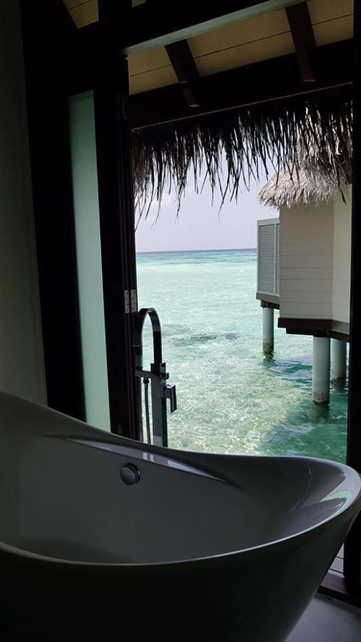 Sitting in the The bathrub overlooking the ocean was a dream come true experience