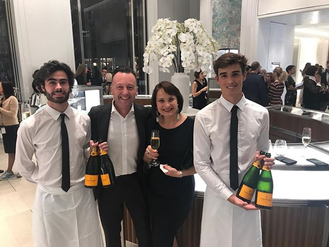 These guys certainly looked after us at Rose Guerin Party in the beautiful Tiffany Store in Sydney. Thanks for having us Rose 💕