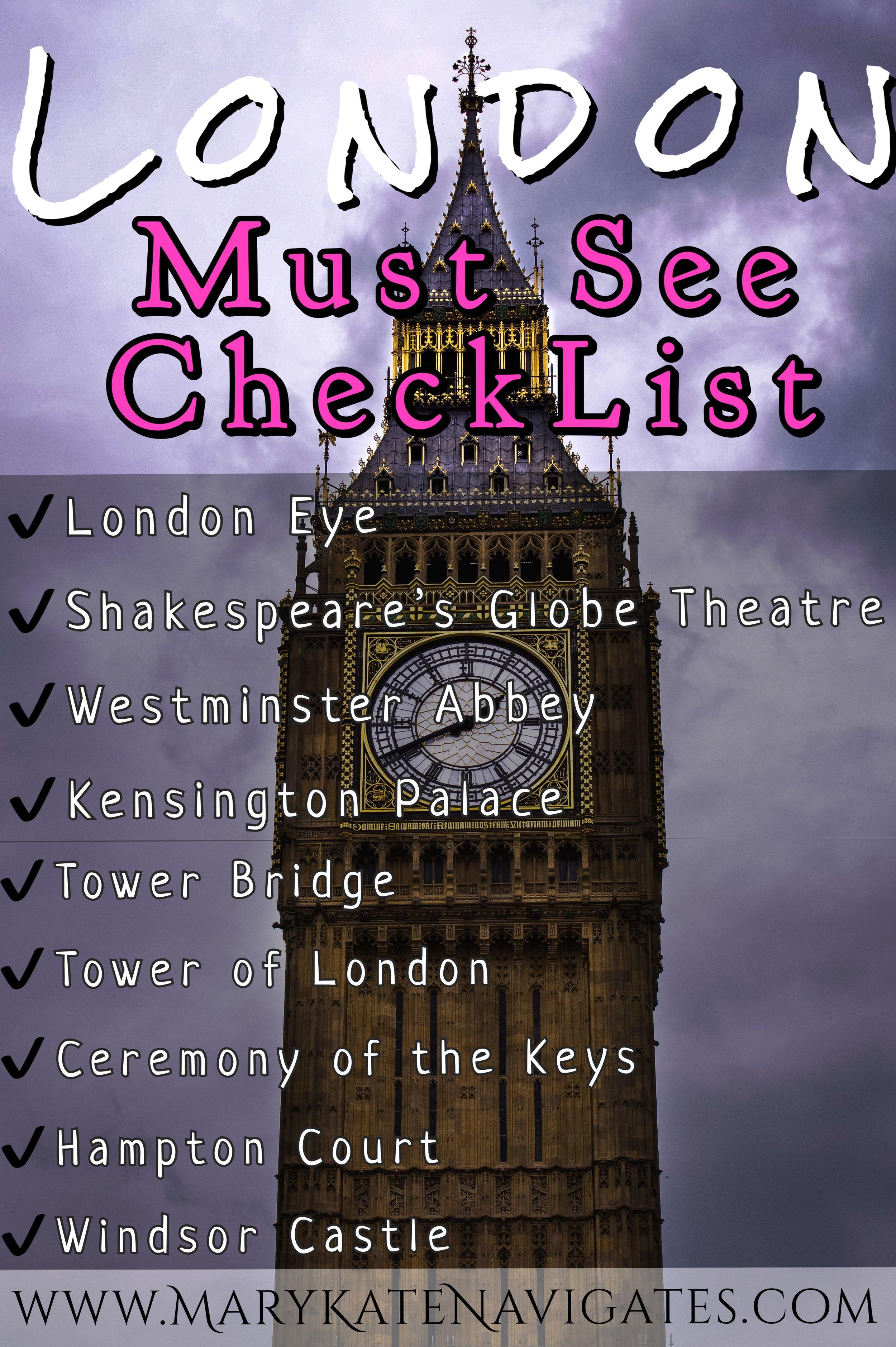 London 4-Day Itinerary