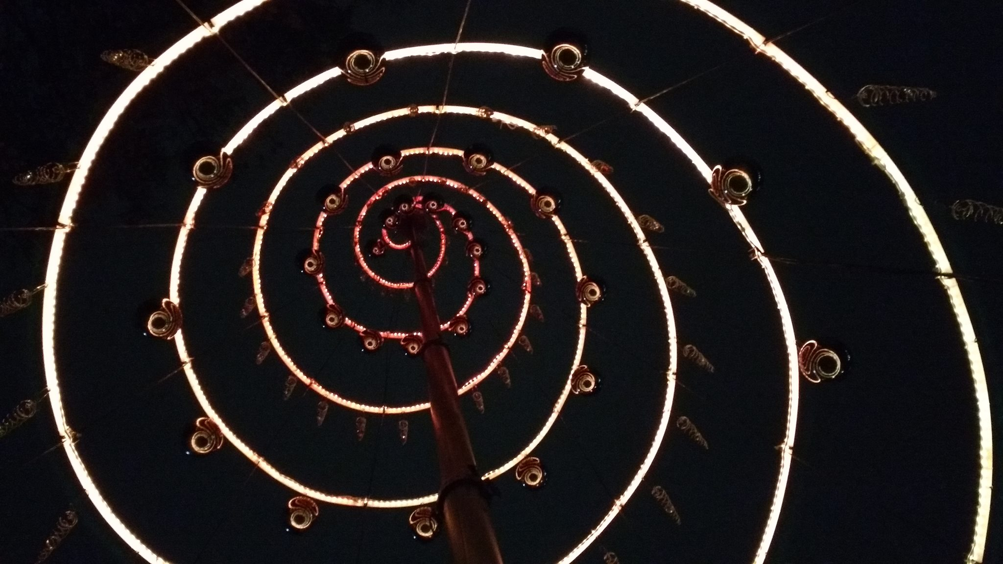 Spiral of Lights Interactive Art Installation