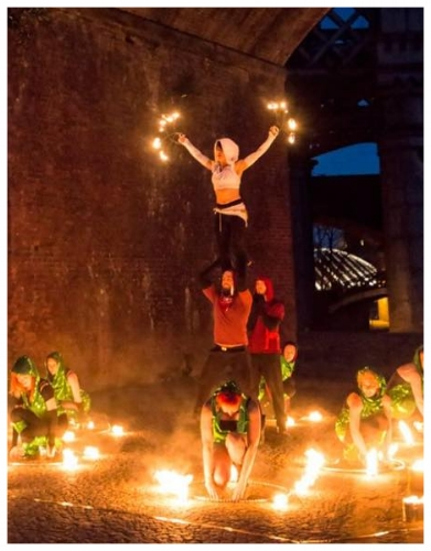 Burning Man fire show UK Circus performers