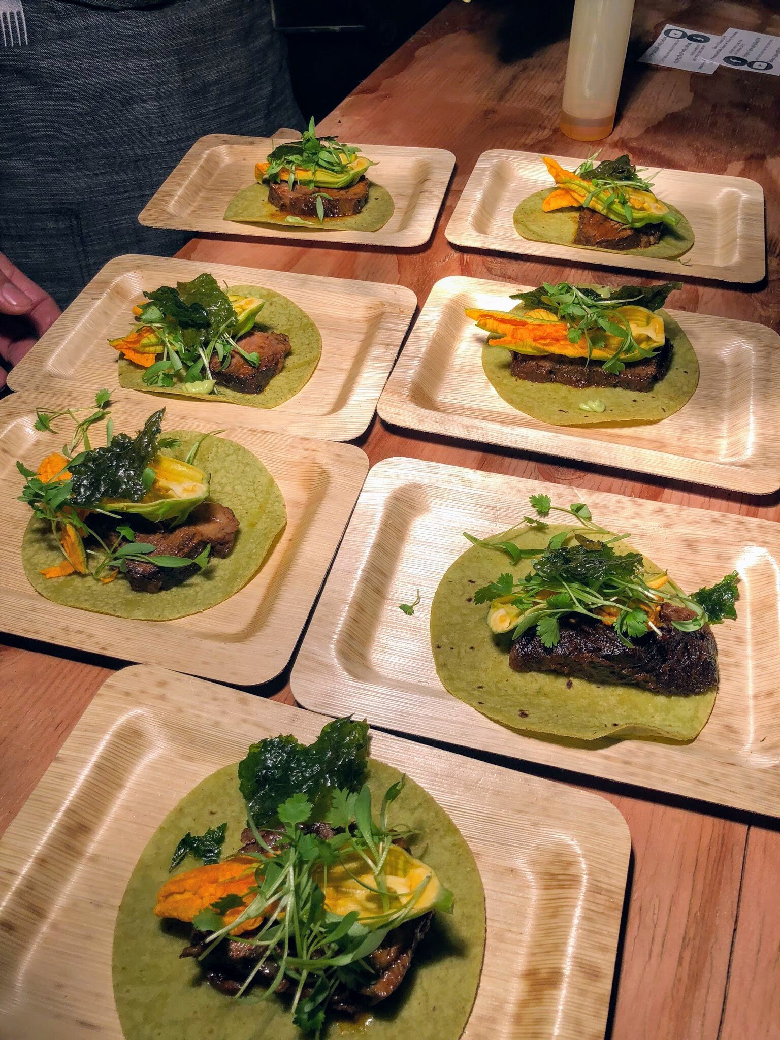 Beef Tacos on Spinach Tortillas