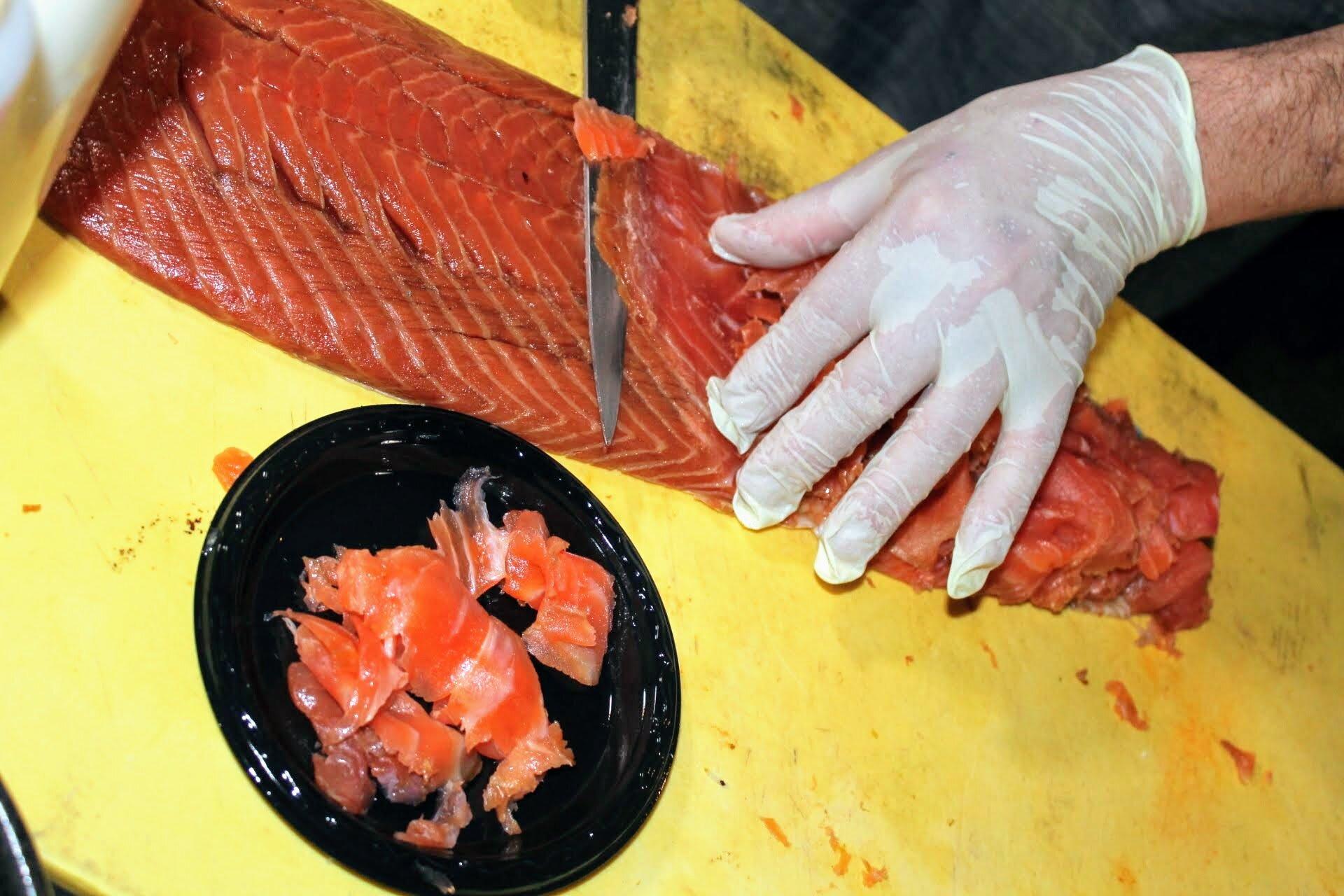 Hand Carved Smoked Salmon