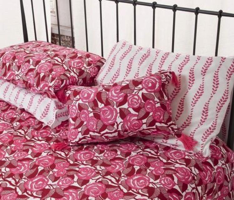 Plover Pink Waves Duvet