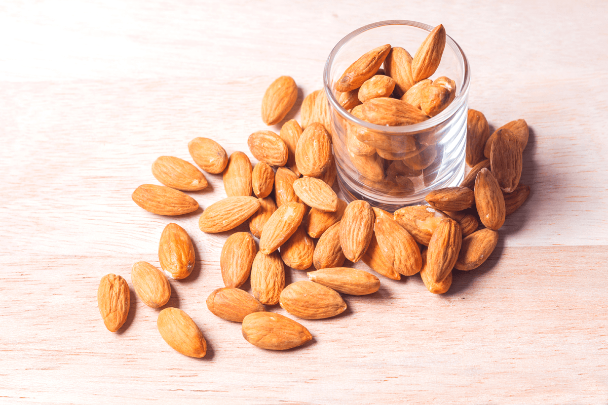 Almonds are a great source of magnesium and calcium