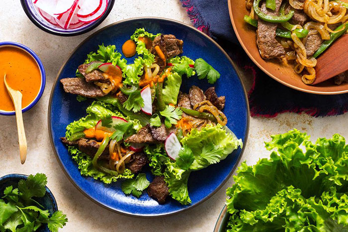 Sun Basket Steak Fajita Lettuce Wraps