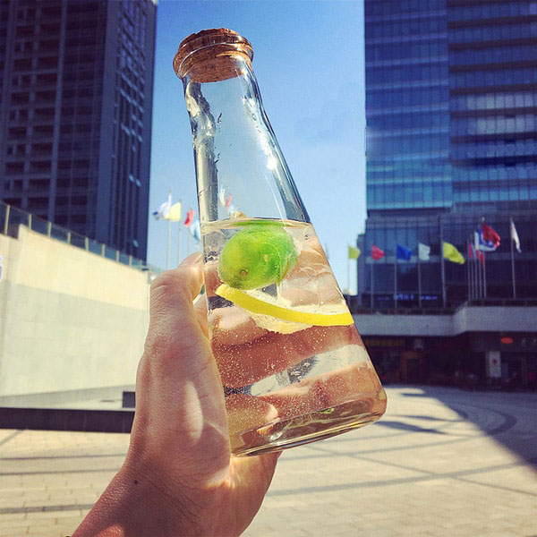 Apollo Box Tapered Glass Bottle