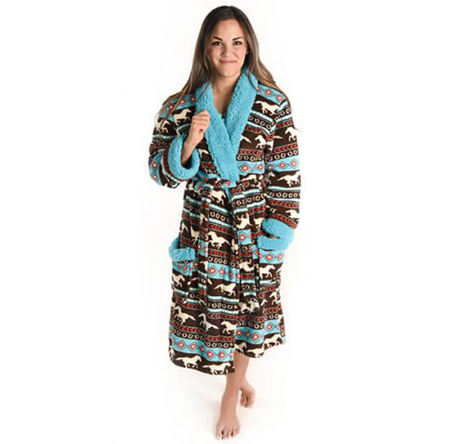 Lazy One Horse Fair Isle Women's Robe