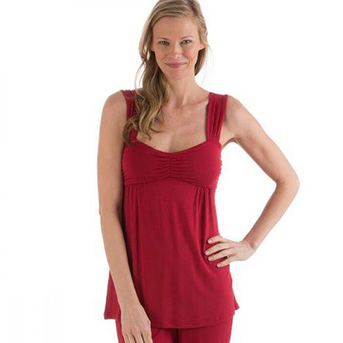 VivaTerra Eco-Weave Sleeveless Pajama Set