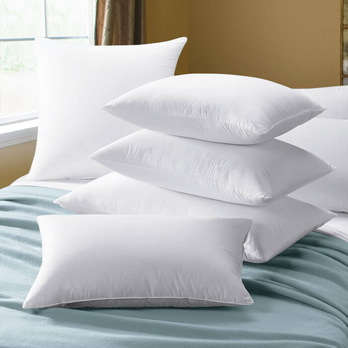 Cuddledown European White Goose Down Sateen Bed Pillows