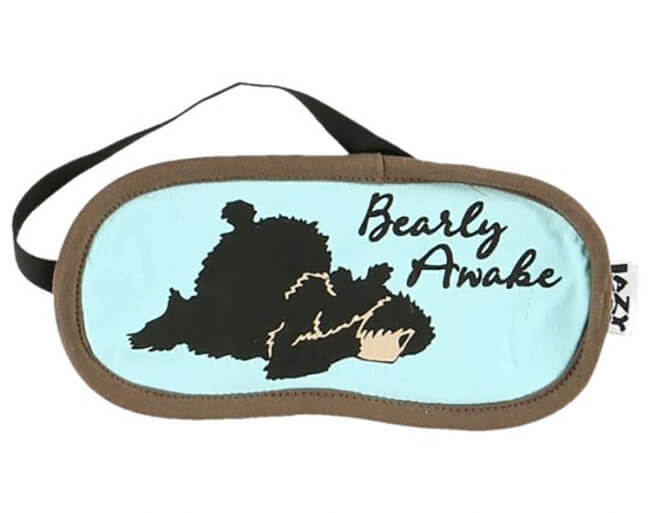 Lazy One Bearly Awake Sleep Mask