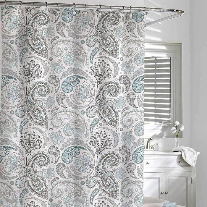 Luxor Linens Daliah Paisley Shower Curtain