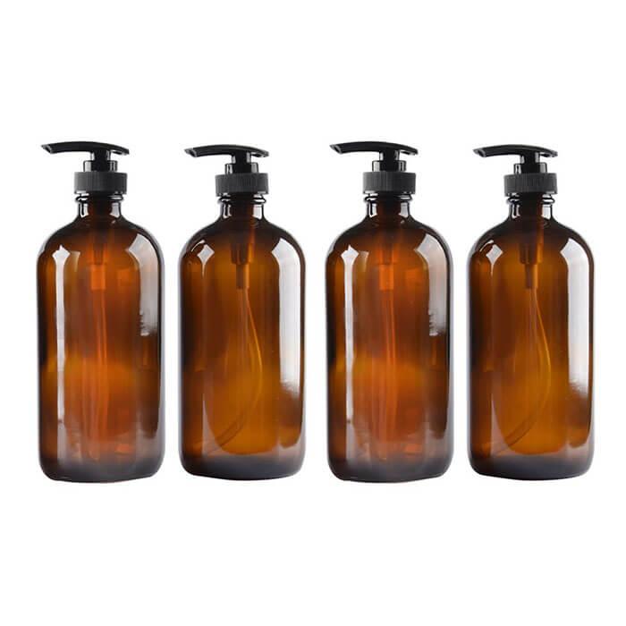 StarSide 4 Pack Amber Eco Friendly Glass Bottles