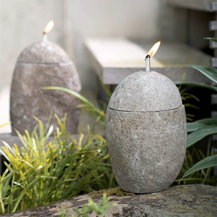 Viva Terra Zen Stone Oil Lamp