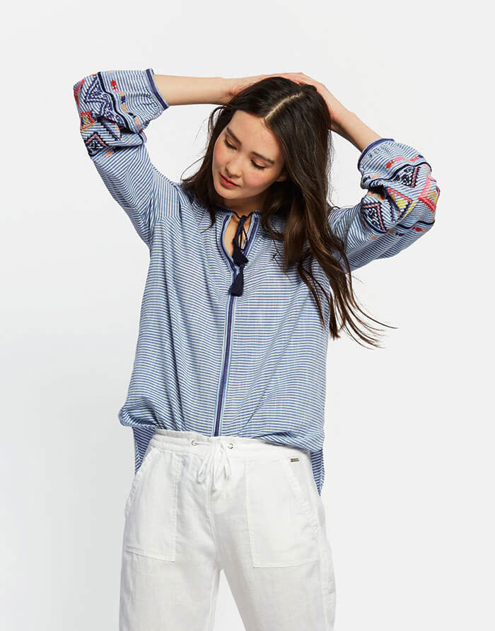 Joules Yolanda Embroidered Blouse
