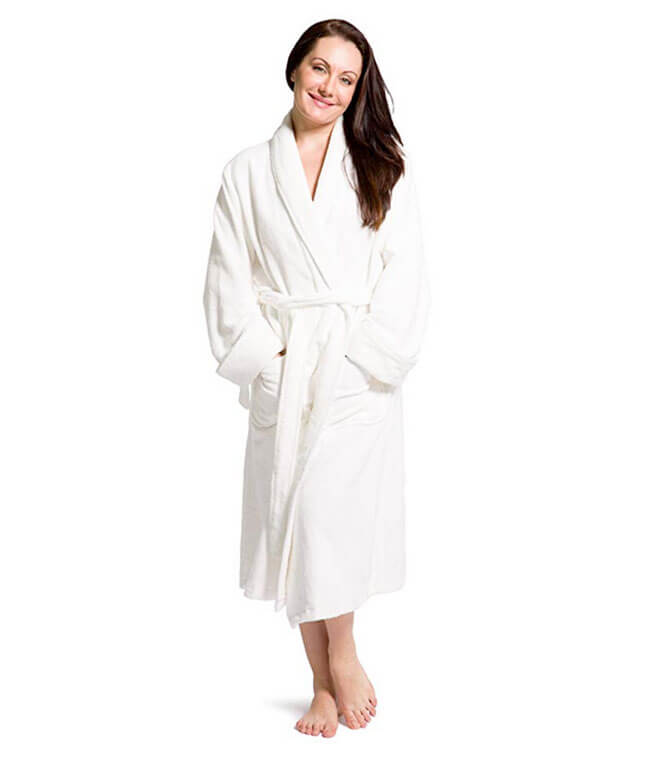 Fishers Finery EcoFabric Bamboo Bath Robe