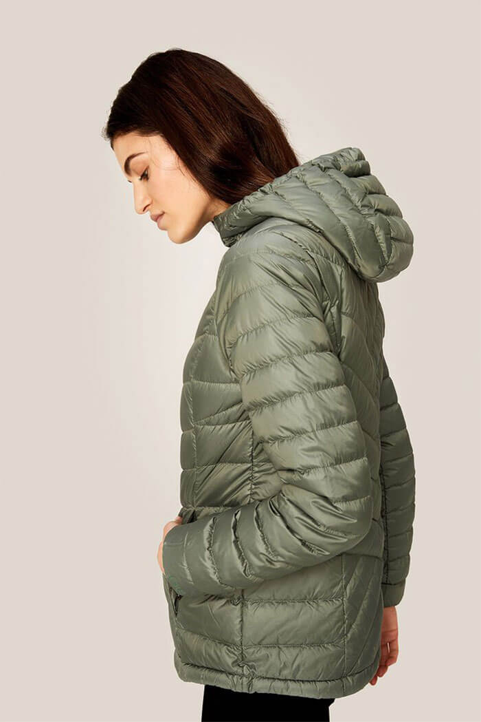 NEW BLACK WOMEN JACKET PUFFER COAT HOODED ZIPPERED WINTER S M L XL Quilted USA