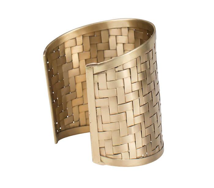 Ten Thousand Villages Basket Weave Cuff Bracelet