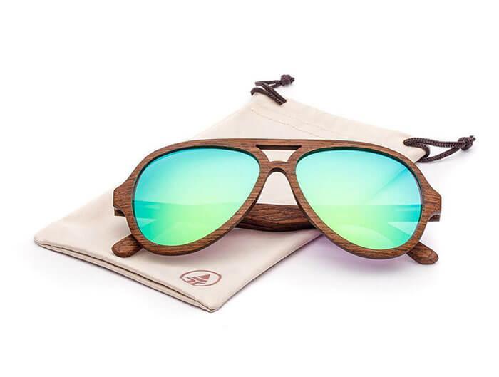 Tree Tribe Wooden Aviator Sunglasses
