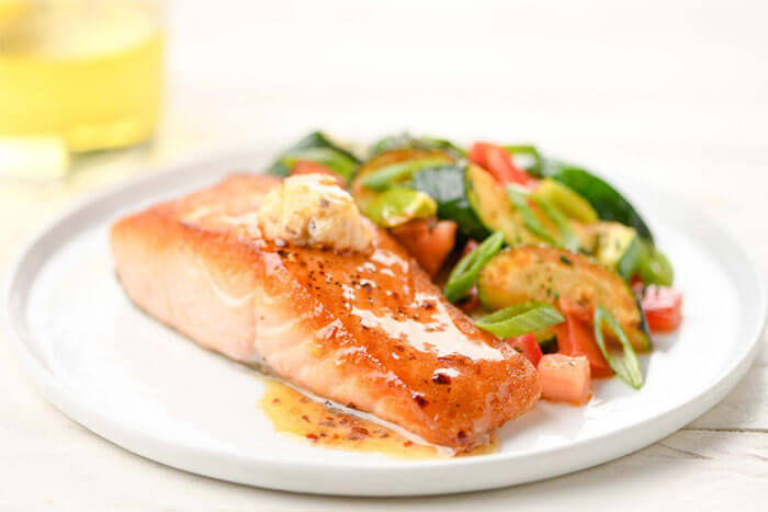 Home Chef Hot Honey Salmon
