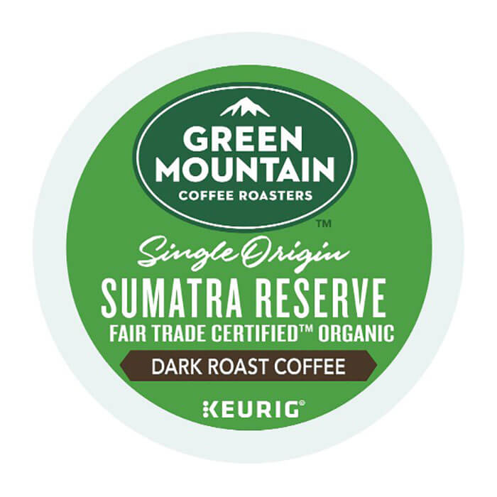 Cross Country Cafe Green Mountain Sumatra Reserve Organic Coffee