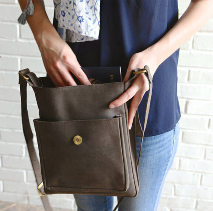 Ten Thousand Villages Eco Leather Shoulder Bag