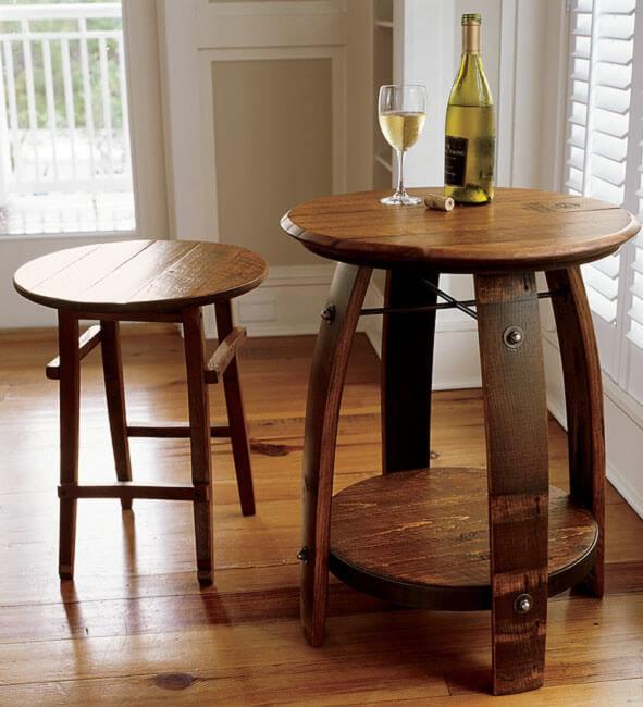 Orvis Reclaimed Wine Barrel Table