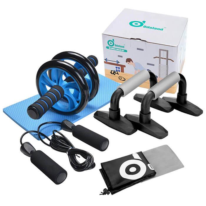 Odoland 3-in-1 Ab Wheel Roller Kit