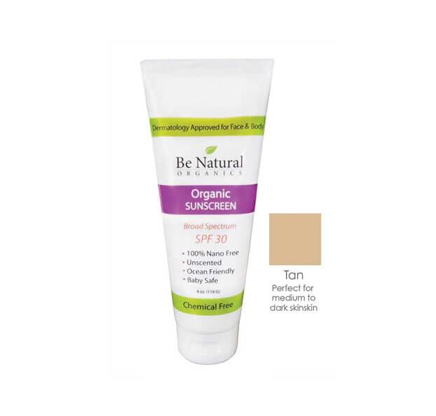 Be Natural Organics Organic Sunscreen Tan Tint SPF 30