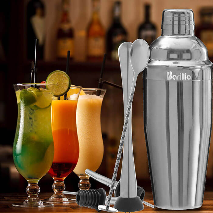 Barillio Cocktail Shaker Bartender Set