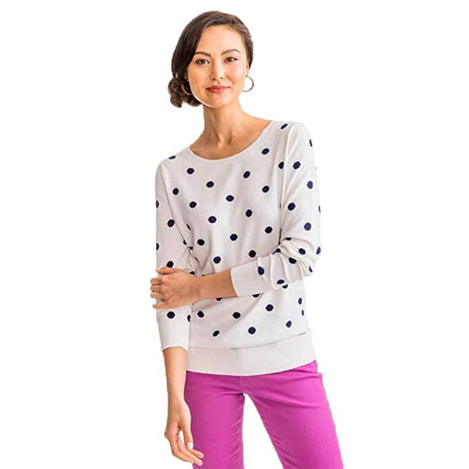 Southern Tide Rebecca Dot Crew Sweater