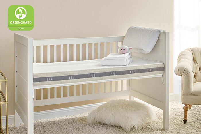 Brentwood Home Wildfern 2-Stage Natural Crib Mattress