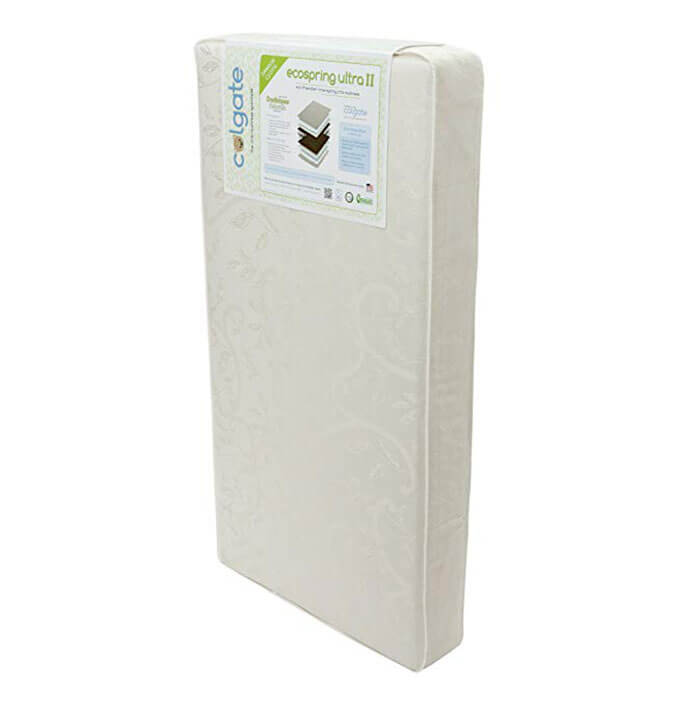Colgate EcoSpring Ultra II Organic Cotton Innerspring Crib Mattress