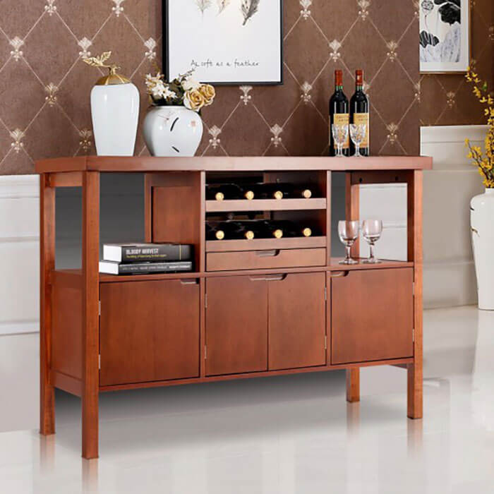 Costway Wooden Buffet Dining Storage Sideboard Table