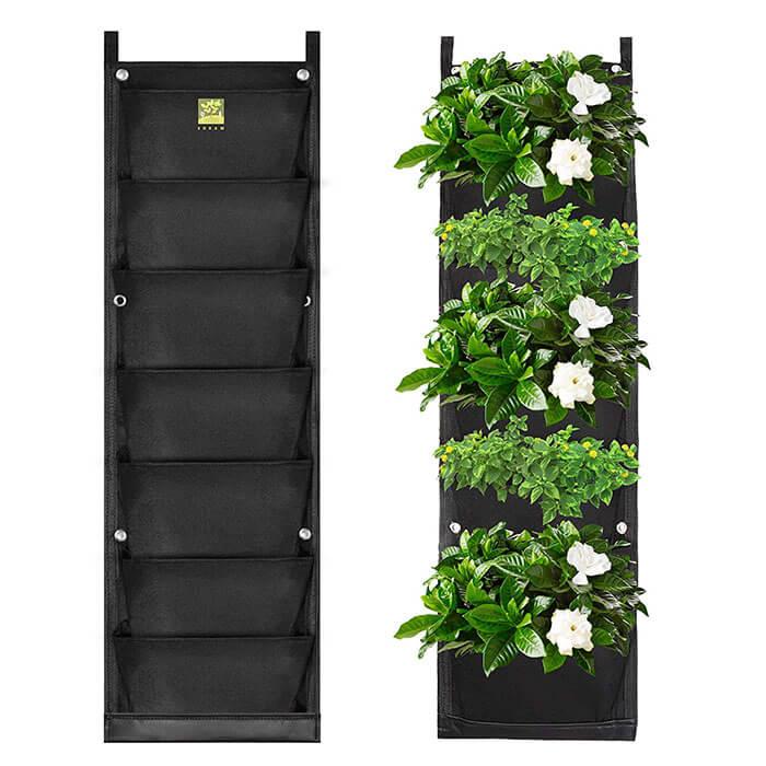 KORAM 7 Pockets Vertical Garden Wall Planter