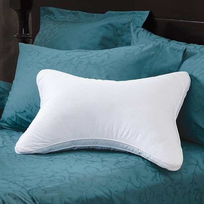 Cuddledown 700 Fill Power White Duck Down Double Contour Pillow