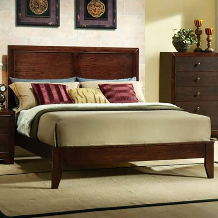 Costway Home Bed Frame with Platform Wood Slats