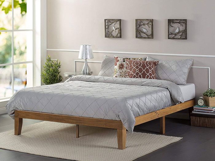 Zinus 12 Inch Solid Wood Platform Bed