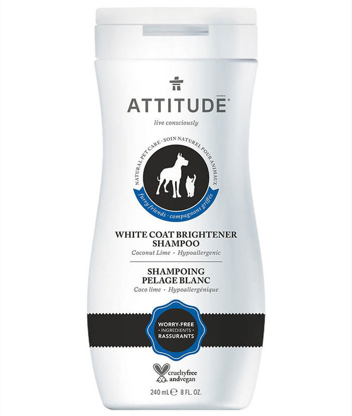ATTITUDE Natural White Coat brightener Shampoo