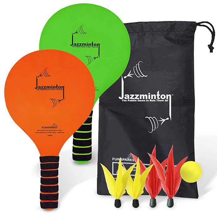 Funsparks Jazzminton Paddle Ball Game
