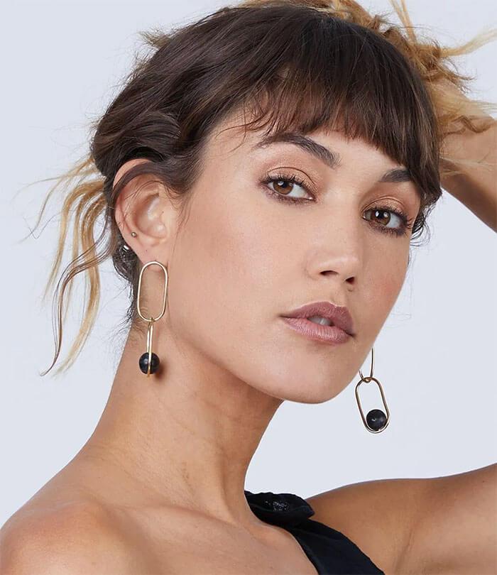 Bikini.com Soko Jewelry Large Linked Sawa Drop Earrings