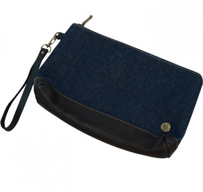 Ten Thousand Villages Dark Denim Clutch