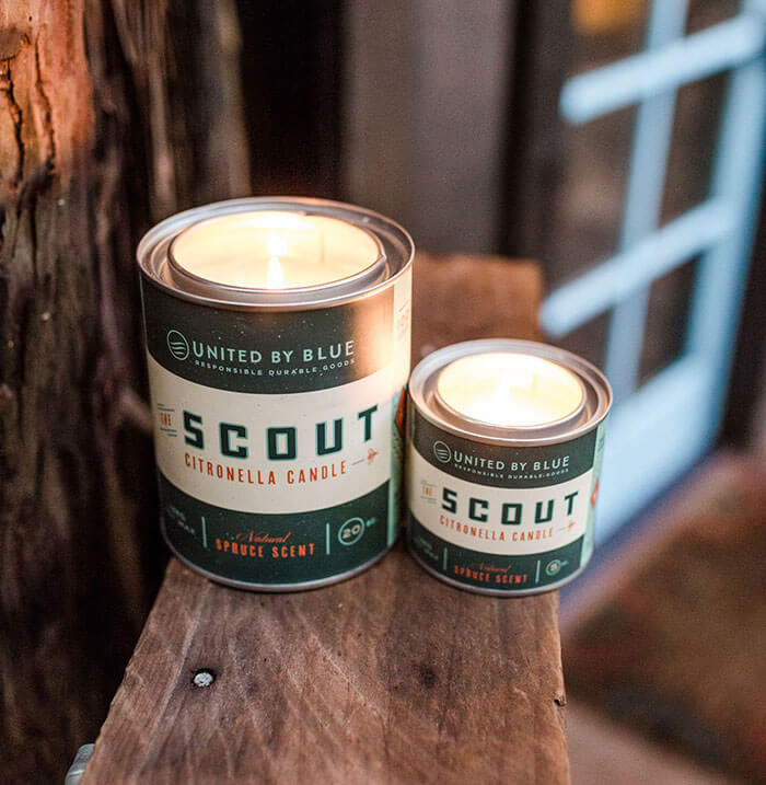 United By Blue 20 oz. Scout Citronella Candle