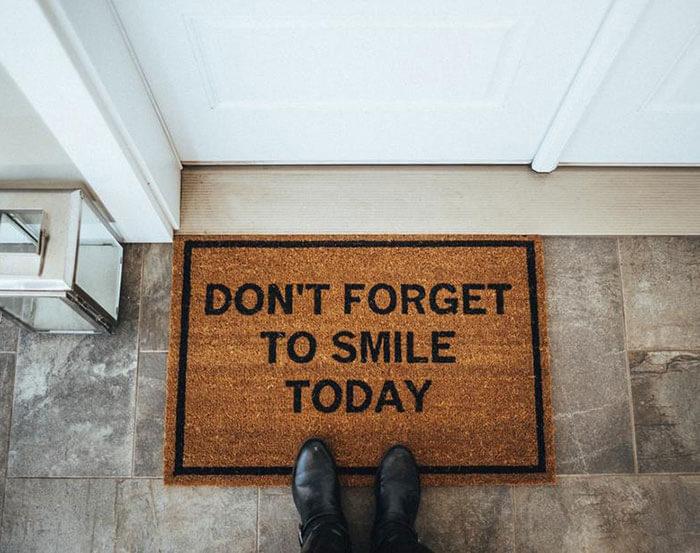 Matsy Smile Doormat