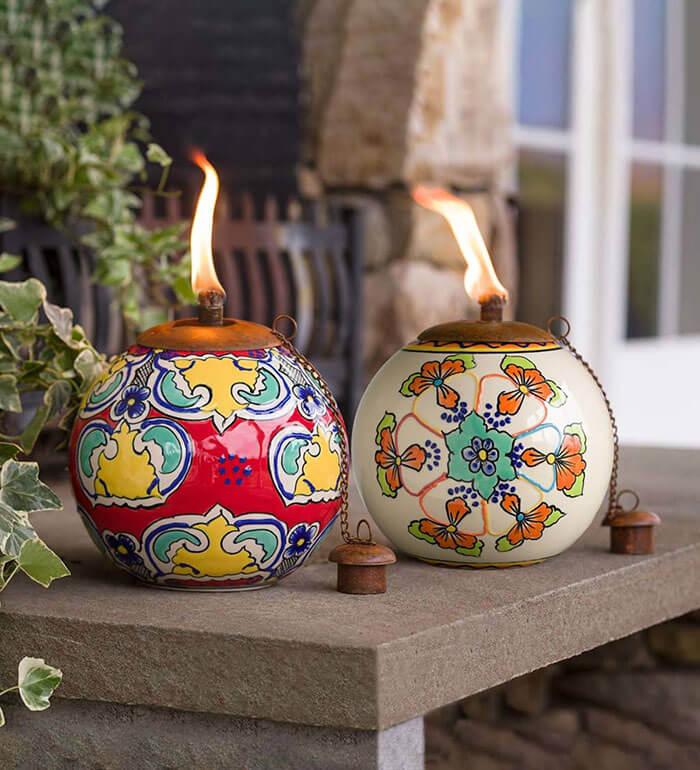 Plow & Hearth Talavera Outdoor Fire Pot