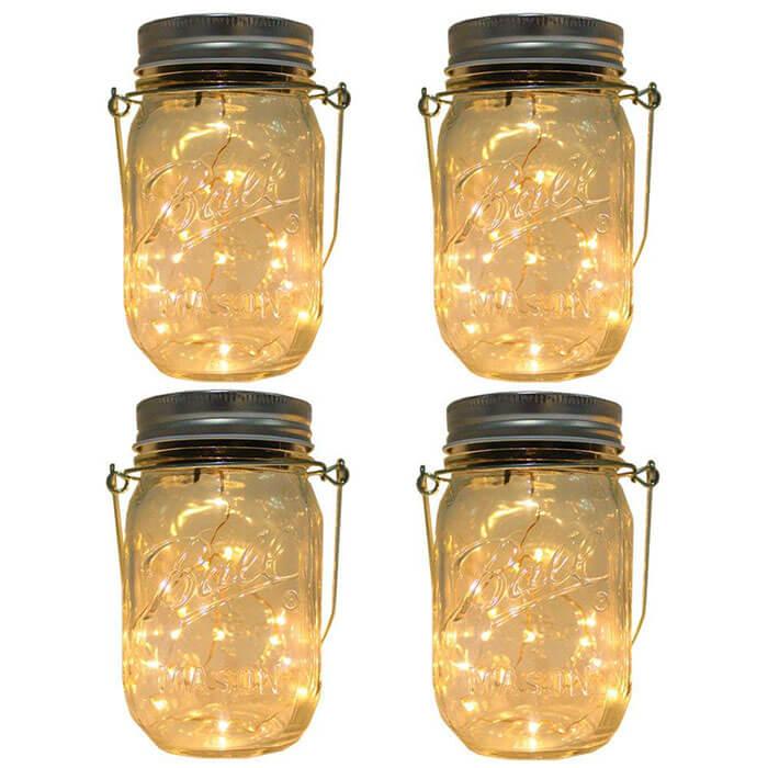 CHBKT Solar-Powered Mason Jar Lights
