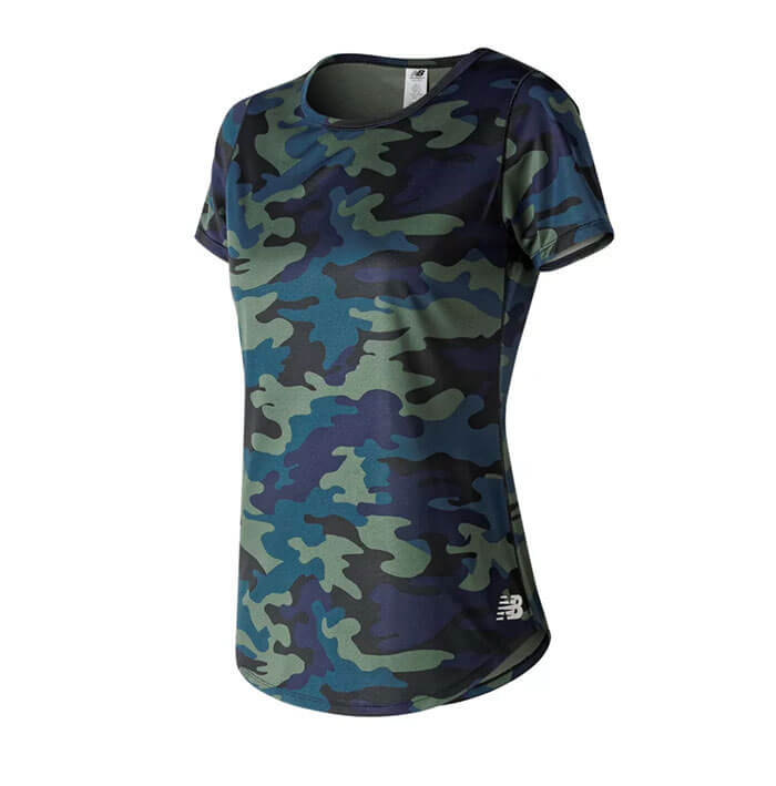 New Balance Printed Accelerate Short Sleeve Top