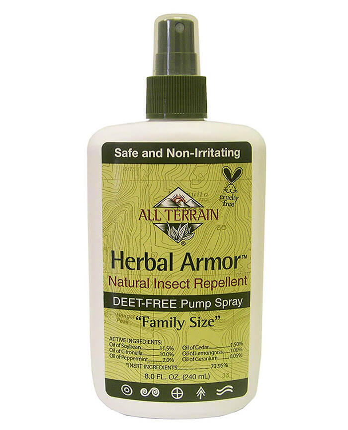 All Terrain Effective DEET-Free Herbal Armor Insect Repellent