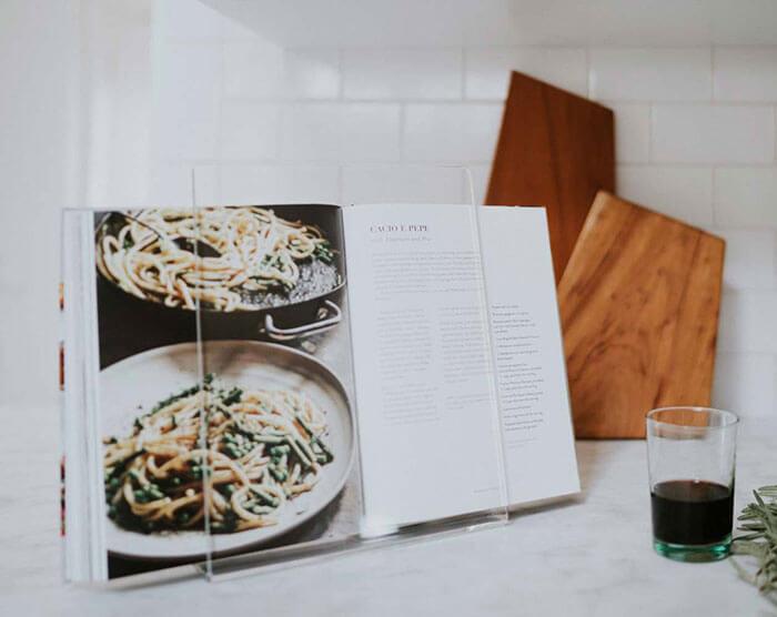 NEWLY Balsamo Lucite Cookbook Holder